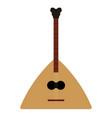 isolated balalaika icon musical instrument vector image
