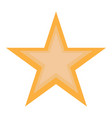 isolated golden star vector image