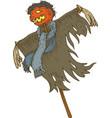 jack-o-lantern scarecrow for halloween vector image