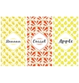 Labels and seamless pattern vector image vector image