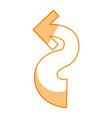logotype arrow curve vector image vector image