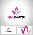 Lotus Logo Design Flower vector image vector image