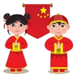 male and a female Chinese on vector image