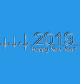 medical christmas banner 2019 happy new year vector image vector image