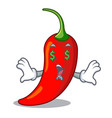 money eye red chili pepper isolated on mascot vector image vector image