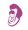 mother and bastylized symbol mom huges her vector image vector image