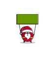 outline cartoon santa claus hold flag vector image
