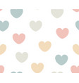 pastel heart seamless pattern for fabric simple vector image vector image