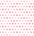 pink polka dot seamless pattern with circles vector image