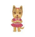 Puppy Holding A Piece Of Cake vector image vector image