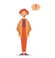 question sign young character asking a question vector image