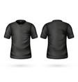realistic t-shirt black blank mockup vector image