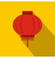 Red chinese lantern icon flat style vector image vector image