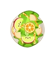 Salad with Oranges and Apple Served Food vector image vector image