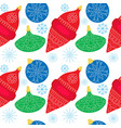 seamless colorfull pattern with christmas ball vector image