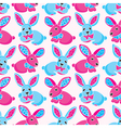 seamless pattern - toy rabbits vector image vector image
