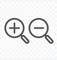 search zoom in and out icon isolated on vector image