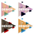 set abstract colorful triangle dynamic splash vector image vector image