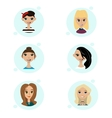 set female avatar icons people vector image vector image