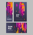 set flyer and poster minimalistic flat design vector image vector image