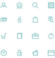 set icons material design style vector image vector image