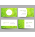 Set of business cards low poly design vector image