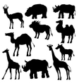 silhouettes wild animals vector image