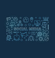 social media concept blue linear horizontal vector image