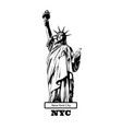 statue liberty new york usa vector image