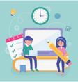 students school education online image vector image