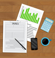 tax analysis and statistics vector image vector image