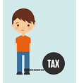 tax liability design vector image