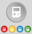 Tetris icon sign Symbol on five flat buttons vector image