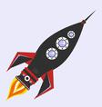 vintage rocket vector image