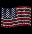 waving american flag stylization of email symbol vector image vector image