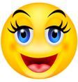 funny smile emotion vector image