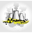 Nuclear plant abstract background vector image