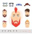 man face emotions constructor vector image