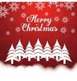pine tree winter and christmas design vector image