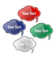 A collection of glossy speech bubbles White vector image vector image