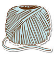 a sticker template with ball yarn isolated vector image