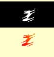 abstract alphabet logo design template dynamic vector image vector image