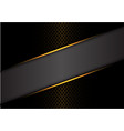 abstract gray banner gold line on dark metal vector image vector image