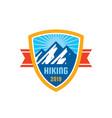 adventure outdoors - concept badge mountain vector image vector image
