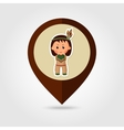 American Indian children mapping pin icon vector image vector image