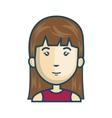 avatar woman cartoon vector image vector image