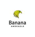 banana and eagle logo design vector image