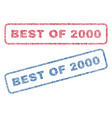 best of 2000 textile stamps vector image vector image