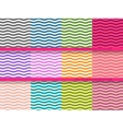 Big set of wavy seamless patterns for your design vector image vector image