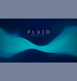 blue gradient fluid background fluid colors 3d vector image vector image